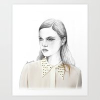 stud collar Art Print