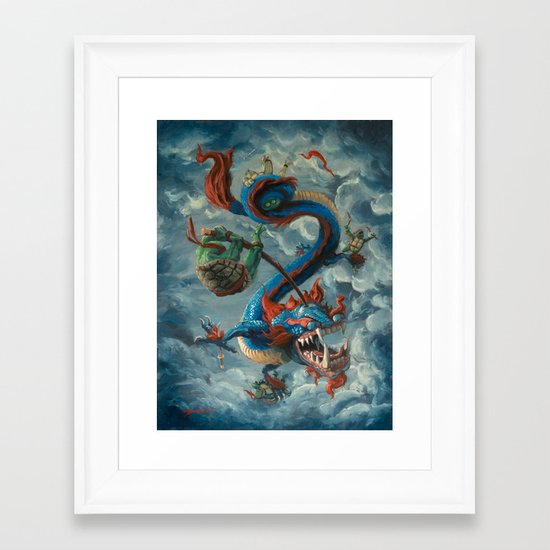 "There is no ""eye"" in Team Framed Art Print"