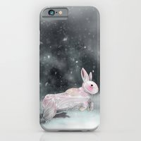 rabbit iPhone & iPod Cases featuring White Rabbit by Ben Geiger