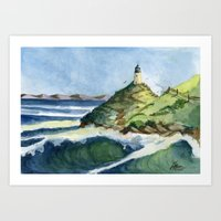 Peaceful Lighthouse V Art Print