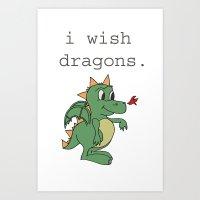 I wish dragons Art Print