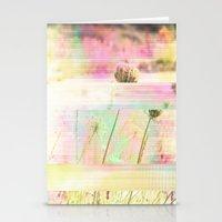 Wild Flower Glitch Stationery Cards