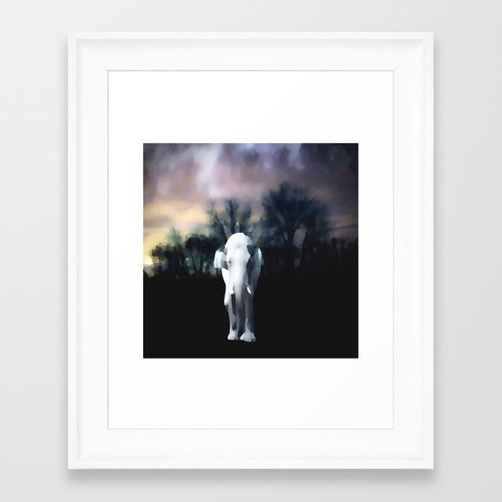I heart the Elephant Framed Art Print