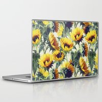 sunflower Laptop & iPad Skins featuring Sunflowers Forever by micklyn