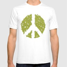 Peas SMALL White Mens Fitted Tee