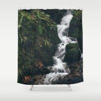 Small Hillside Waterfall… Shower Curtain