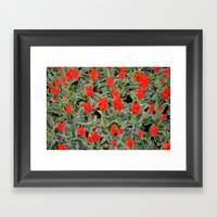 Fire Of Love Framed Art Print
