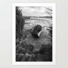 The old boat Art Print