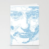 facial shapes - blue Stationery Cards