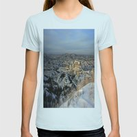 The Bad Lands of North Dakota Womens Fitted Tee Light Blue SMALL