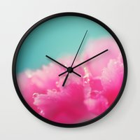 Kissed by the Rain Wall Clock