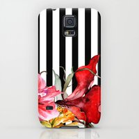 Galaxy S5 Cases featuring FLORA BOTANICA | stripes by Cheryl Daniels