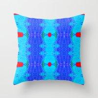 Marina II - Abstract Painting Throw Pillow
