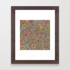 Doodles Garden Framed Art Print