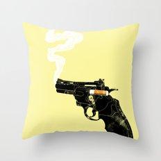 Smoking Gun Throw Pillow