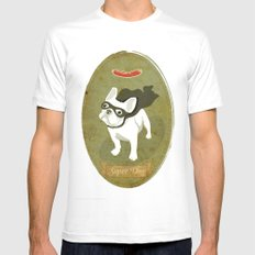 Super Dog Mens Fitted Tee SMALL White