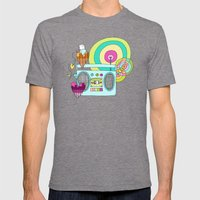 I WANNA ROCK!  Mens Fitted Tee Tri-Grey SMALL