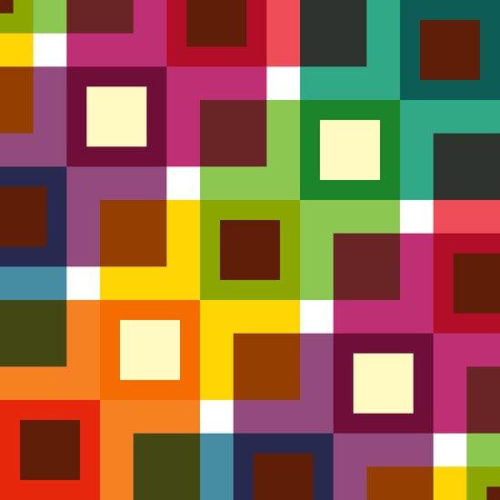 Colourful geometric pattern Art Print