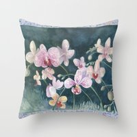 Orchid Melody Throw Pillow