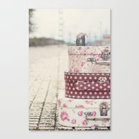 Vintage travel Canvas Print