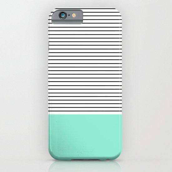 Minimal Mint Stripes iPhone & iPod Case