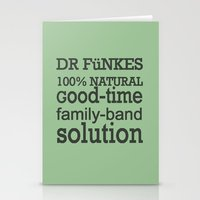 Dr. Funke's 100% natural, good-time family-band solution, 2 Stationery Cards