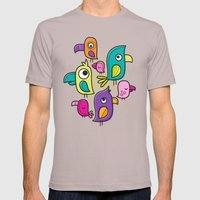 Le Tweet Mens Fitted Tee Cinder SMALL