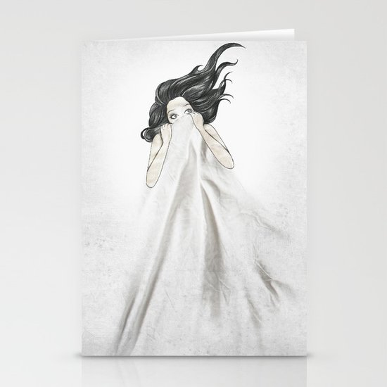 White As A Sheet Stationery Card
