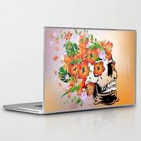 sugar skull Laptop & iPad Skins featuring Sugar skull by nicky2342