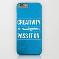 iPhone & iPod Case featuring Creativity is contagious, Pass it on! by LONO Creative