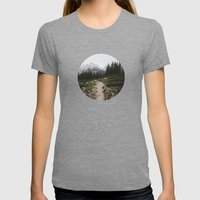 Teton Trail Womens Fitted Tee Tri-Grey SMALL
