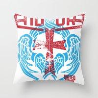 CROSS & WINGS Throw Pillow