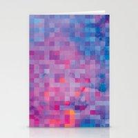 pixel Stationery Cards featuring Pixel by Marta Olga Klara