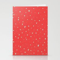 Coral Hearts Stationery Cards