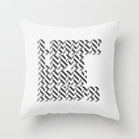 loose lips sink ships dazzle typography Throw Pillow