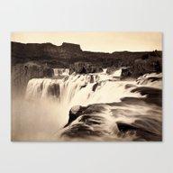 Vintage Waterfall Canvas Print