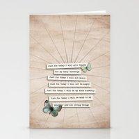 Reiki Principles No.2 Stationery Cards
