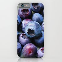 iPhone & iPod Case featuring Blueberries - You Know You Want One by Right As Rain