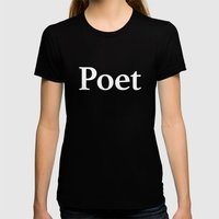 Poet inverse Womens Fitted Tee Black SMALL