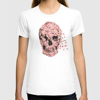 skull T-shirts featuring A Beautiful Death  by Terry Fan