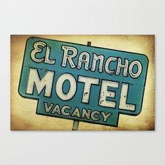 El Rancho Motel Route 66 Canvas Print