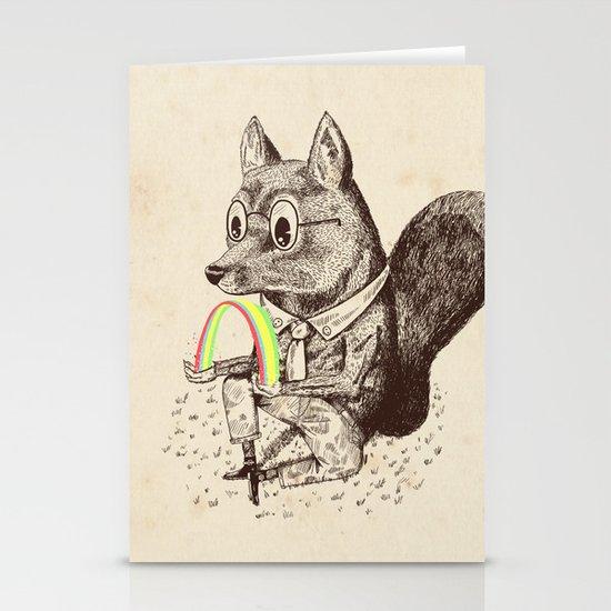 Strange Fox Stationery Card