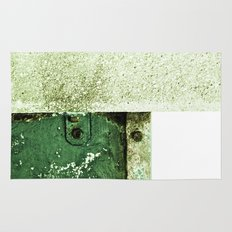 White Green Concrete Rug
