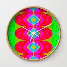 Summer Abstract Pattern I  Wall Clock