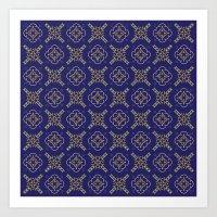 Royal [abstract Pattern … Art Print