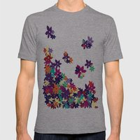Flowered Up Mens Fitted Tee Athletic Grey SMALL