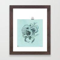 Beast Of The Deep Framed Art Print