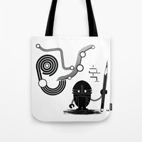 Robot Graffiti  Tote Bag