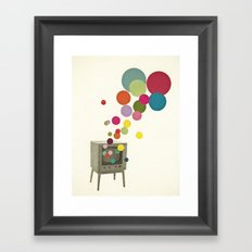 Colour Television Framed Art Print