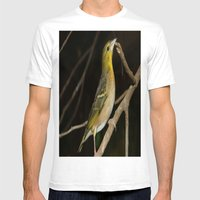 Yellow Birdy Mens Fitted Tee White SMALL